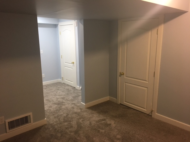 Airdrie Empty Bedroom in Basement