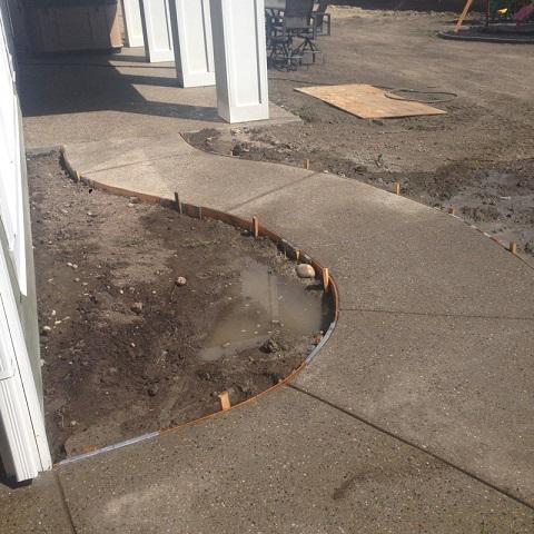 Concrete Services Curved Sidewalk