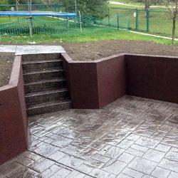 Concrete Services Recessed Patio
