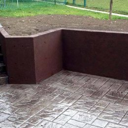 Recessed Patio Beside Lawn