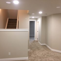 Skyview Basement Stairs and Corridor