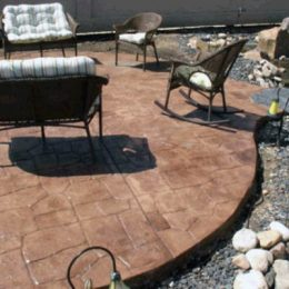 Walkout Patio with Chairs